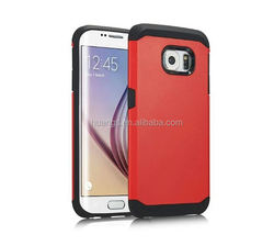 Fashion silicon+PC hybrid phone cases for samsung galaxy s6 edge case armor king china suppliers