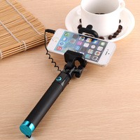 good quality selfie stick 2015 take pole wired cable selfie stick for iphone samsung with your logo