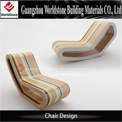 solid surface unique bedroom chair for hotel