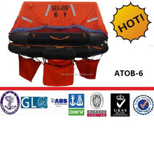 6 to 25 persons Throw-over Inflatable Life Raft For Fishing Boat