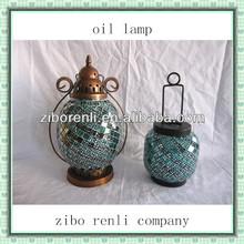 colgante artesanal cuatro- hoja de mosaico de época trébol linternas vela baratos