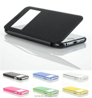 Ultra Slim Flip Leather Cover Case with View Window For Apple iPhone 6 Plus