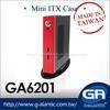 GA6201 red Mini ITX Case for Digital Signage new desktop mini pc thin client