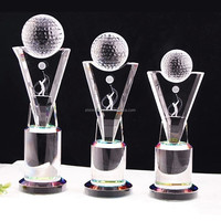 wholesale 3d laser K9 crystal golf trophy