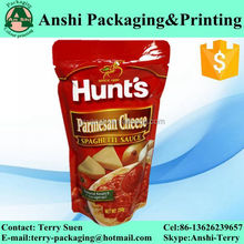 Custom print water proof resealable metallic stand up pouch/bag for food/cereal/cookie/nut