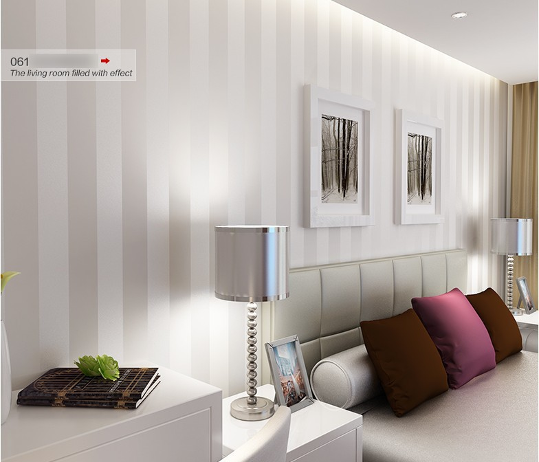 Minimalist Country Luxury Stripe Wallpapers Living Room Bedroom TV .