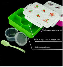 microwave plastic lunch box divider