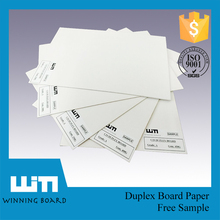 Korea Stiffness Equal Duplex Card Paper Board Printing Paper With Grey Back