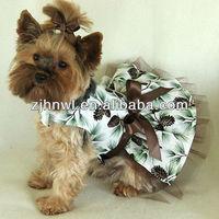 Fashion design Dog Dress clothes pet apparel