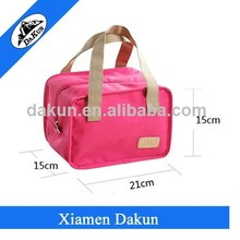 pink lunch container cooling lunch bag with tote hand