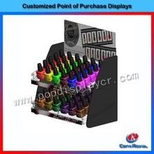 fashion 6 tiers clear acrylic nail polish wall rack