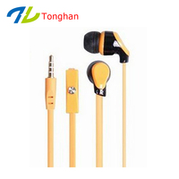 2015 top quality plastic stereo earphone with microphone