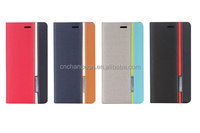 2015 Hot selling contrast color British style PU leather mobile phone case cover for XIAOMI RED MI note2 iphone CO-LTC-1028