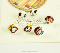 Latest fashion!! Wholesale best selling animation cartoon design fashion earrings