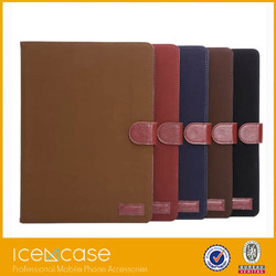 2015 fashionable keyboard leather case for iPad air2,leather pad case for apple