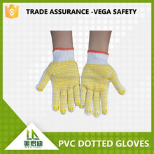 china cheaper PVC dotted bleach cotton gloves , antislip,,abrasion resistance safety work protection gloves
