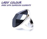 R5560 Big Oval black semi-precious stone men ring in zinc alloy jewelry plated 18K imitation rhodium Lady Ring wholesale