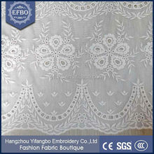 China Suppliers embroidery design african cotton fabric for designer sarees wholesale