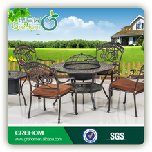 cast aluminum outdoor furniture with BBQ grill