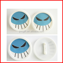 rubber broochs/plastic brooch/ONE PIECE brooch