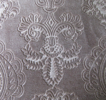 Delicate 3d embossed flannel fabric, women dress, sofa cushion
