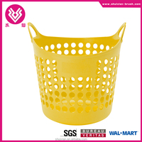 Flexible Plastic Dorm Nesting Storage Laundry Toys Closet Handle Basket Tote Bin red yellow blue green new