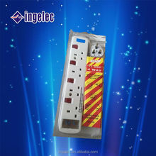 13 A British type Residential/General-Purpose individual switch control electrical extension power socket