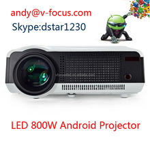 LED Android projector 4500 Lumens Video home theater 3D WIFI Projector 2*HDMI 2USB PS2/3 XBOX