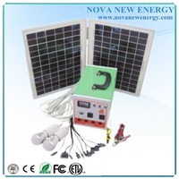 mini solar system with mobile charger for home use