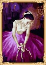 coloring by numbers sexy women ballerine diy oil painting on canvas for home decor GX7353