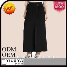 el último de la moda simple negro sexy damas maduras con falda de pretina