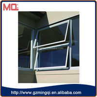 cheap tempered glass pvc windows/large plastic awning window for house