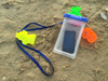 Colorful ABS Buttons Waterproof Floating TPU Beach Pouch For Mobile Phone