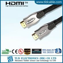 10ft gold plated HDMI Cable with nylon mesh for full hd 1080p