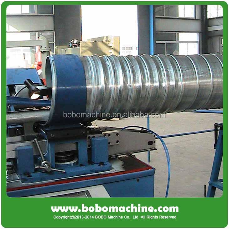 Corrugated steel pipe making machine