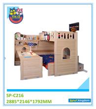 Royal Indian Furniture,Triple Bunk Beds For Kids,Curved Wood Furniture
