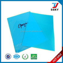 Blue hard plastic sheets cover for school binding cover
