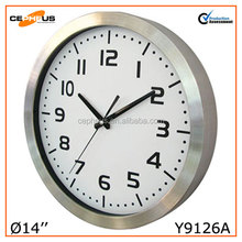 "14"" Stainless Steel Metal Wall Clock"