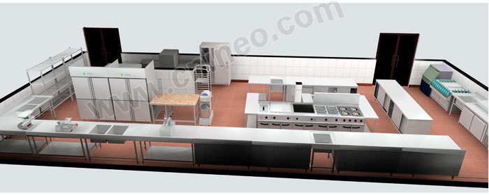 Restaurant kitchen fast food design grill
