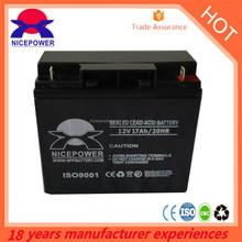 Battery supplier 12v 17ah Sealed lead acid battery agm ups battery price