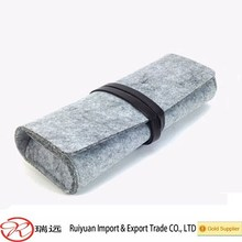 Alibaba hot sale !!! Felt eyeglasses case with leather manufacturer in Ruiyuan