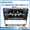 ZESTECH OEM CE Certification Car dvd for BMW E92 E91 E90 with GPS/CANBUS/Bluetooth/DVD/CD/MP3/Mp4/Steering wheel control