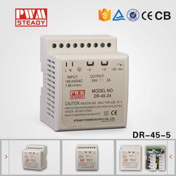 Din rail power supply 45w dc output switch mode power supply 5v dc power supply
