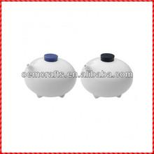 Useful custom glazed white oil vinegar kitchen cruet set