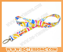 heat transfer printing lanyard with hook for gifts