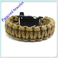 Paracord Survior Bracelet With A Whistle Buckle