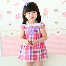 80175 korean children clothing 2 year old girl dress short sleeve dresses
