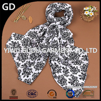 Rural wind in the fall and winter of the south Korean version of the scarf, fashionable woman printed polyester scarf