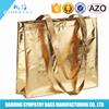 Golden laminated Non woven Shopping Bag
