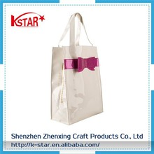 Large Cheap Clear Beach Lash Package Tote Shoulder pvc shopping bag